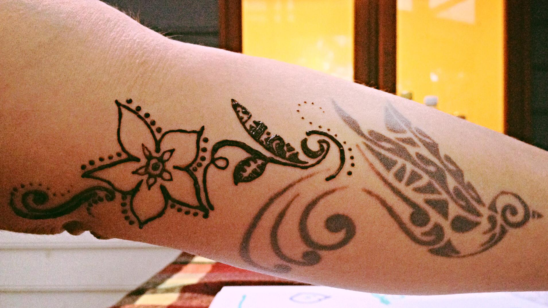 Henna Tattoo Permanent: Looking Back: Extension On Permanent Tattoo With Henna
